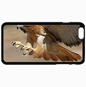 Customized Cellphone Case Back Cover For iPhone 6 Plus, Protective Hardshell Case Personalized Eagle Black