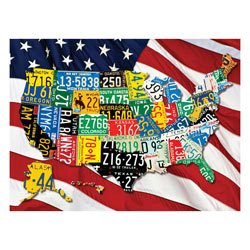 State Plates 400 Piece Family Jigsaw Puzzle
