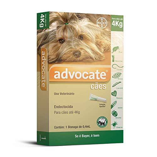Antipulgas Advocate Bayer para Cães de até 4kg - 1 Bisnaga de 0,4ml