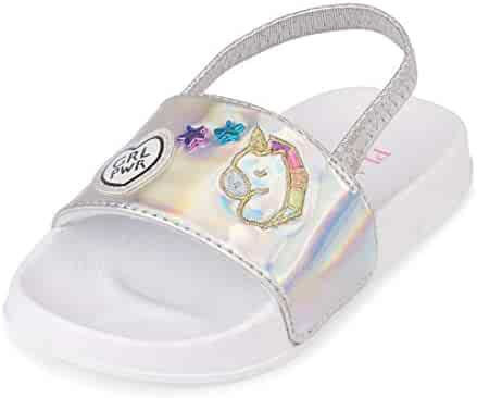 The Children's Place Kids' TG Patches Slide Flat Sandal