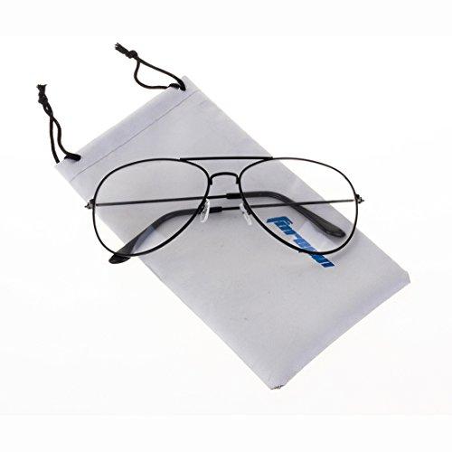 Forepin® Lunettes de Vue Unisex Monture Metalique Cadre Frame Lentille pour  Homme et Femme Adultes 4fa9e8be8802