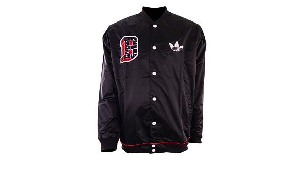 4283c28bc6a91 Adidas NBA STD JKT BULL Chaqueta Moda Negro Rojo Blanco para Hombre Chicago  Bulls  Amazon