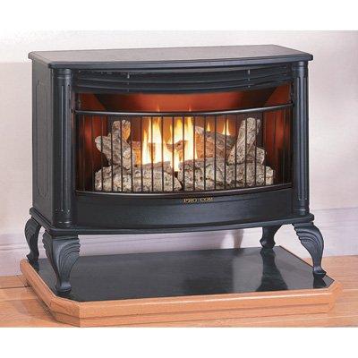 amazon com procom vent free dual fuel stove 25 000 btu model rh amazon com dual fuel gas wood fireplace inserts