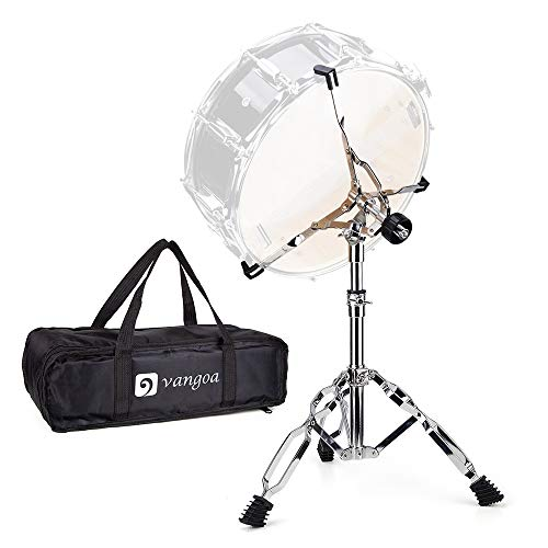 "Snare Drum Stand Lightweight Double Braced Adjustable Height with Carrying Bag Fit 10"" to 15"" Dia Drums"