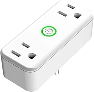 WiFi Smart Plug, Wi-Fi Smart Socket Outlet Compatible with Alexa and Google Home, Control Your Lights, Appliances from Your Phone (2 Hole)