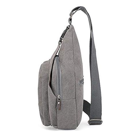 Trihedral New Korean Chest Bag Female Canvas Men Bag Sports Pockets Multi-Function Outdoor Chest Bag Shoulder Messenger Bag