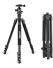 """Zomei Q555 Lightweight Alluminum Alloy Camera Tripod with 360 Degree Ball Head + 1/4"""" Quick Release Plate for Canon Nikon Sony Samsung Panasonic Olympus Fuji DSLR and Camcorders"""