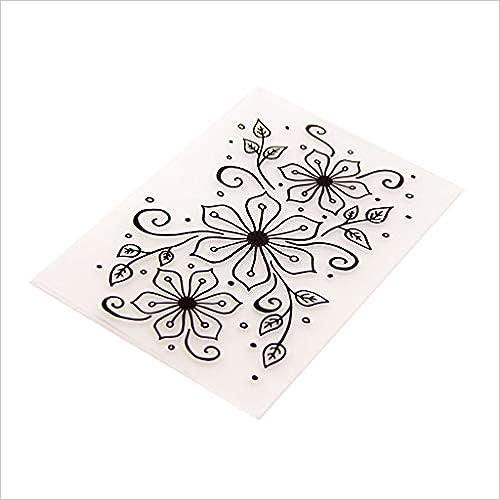 liumiKK Plastic Embossing Folder Template DIY Scrapbook Photo Album Card Making Decoration Crafts Flowers