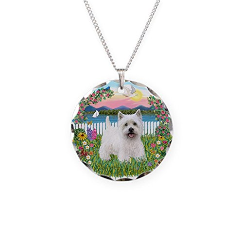 - CafePress - Garden-Shore-Westie#5 - Charm Necklace with Round Pendant