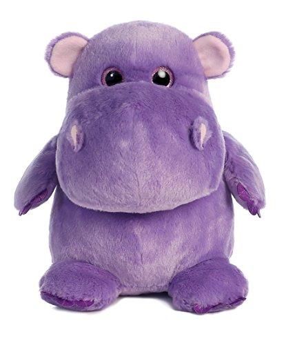 Aurora World Hunk of Love Hippo Plush, Purple, Medium - Purple Hippo