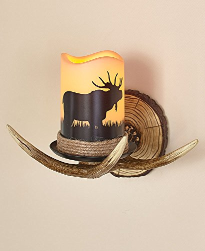 The Lakeside Collection Moose Antler Wall Sconce
