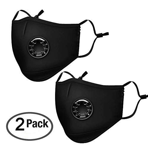 Pack 2 Dust Respirator N95 N99 Breathing Anti Pollution Mask For Men & Women - Reuseable Washable Air Pollution Travel Mask with 4 Activated Carbon Filters, by Velvet fabric by Senyi