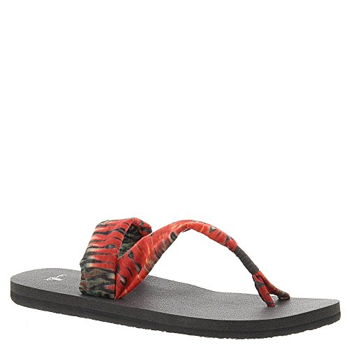 dusty on Sandal Yoga Sanuk dusty it Print red red Sling Wmn xwq0TdSRX