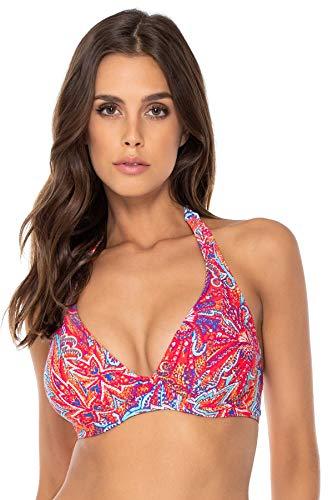 (Sunsets Women's Muse Bra Sized Bikini Top Swimsuit with Underwire, Samba, 36DD)
