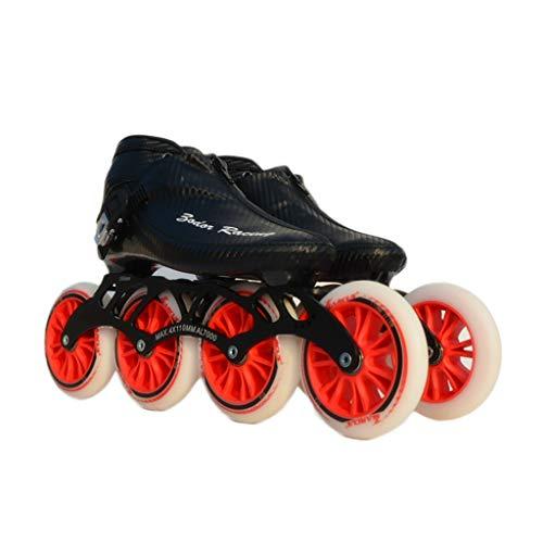 気体の統合してはいけませんNUBAOgy インラインスケート、90-110ミリメートル直径の高弾性PU車輪、子供のための調整可能なインラインスケート、3色で利用可能 (色 : 黒, サイズ さいず : 36)