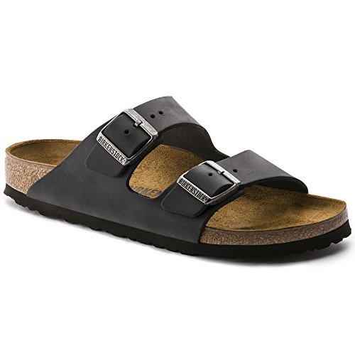 Birkenstock Women's Arizona  Birko-Flo Black Sandals - 8-8.5 B(M) US Women by Birkenstock