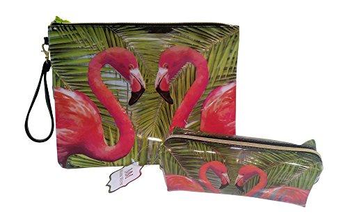 Price comparison product image Tri-Coastal Design 2 Piece Set from Mirror Mirror Collection (Flamingo)