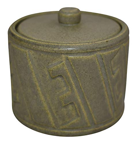 (Rookwood Pottery 1911 Arts and Crafts Ceramic Covered Jar 1916)