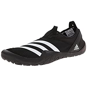 adidas Outdoor CLIMACOOL JAWPAW SLIP ON Athletic Shoe, BLACK/WHITE/SILVER MET., 13 D US