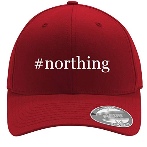 #Northing - Adult Men's Hashtag Flexfit Baseball Hat Cap, Red, Small/Medium