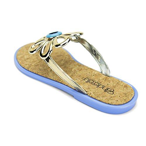 Chemistry® Flo-3 Scarpe Da Donna Infradito Slip-on Sandali Piatti Pantofola Blu