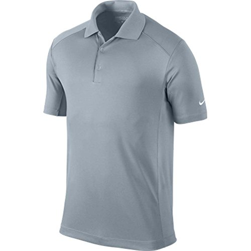 Nike Golf Mens Victory Dri-Fit Solid Polo Grey 818050 093 - Nike Polo Basketball Shirt