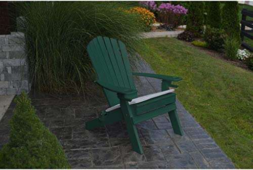 - A&L Furniture Company Folding Recycled Plastic Adirondack Chair With Cupholders