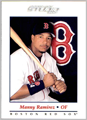 - 2001 Donruss Studio #14 Manny Ramirez BOSTON RED SOX