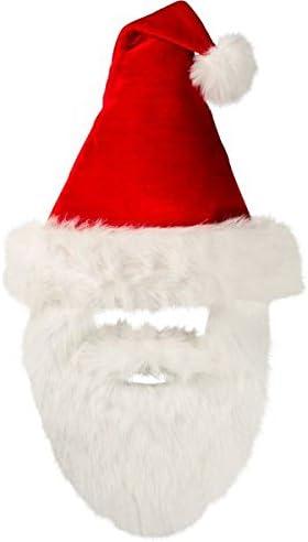 amscan Velour Santa Hat with Plush Beard Christmas Accessory