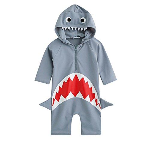 Shark Costumes Boy (Moomintroll Baby Boys Girls Shark Swim Rash Guard Swimsuit Costume Sun Protection Swimwea (M(3-4Years)))