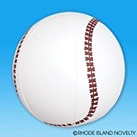 BASEBALL INFLATES - 1DZ 16 inches Inflatable baseballs - Birthday Party Favors Decor - Beachball Fun - Spors Themed Pool Party TOY