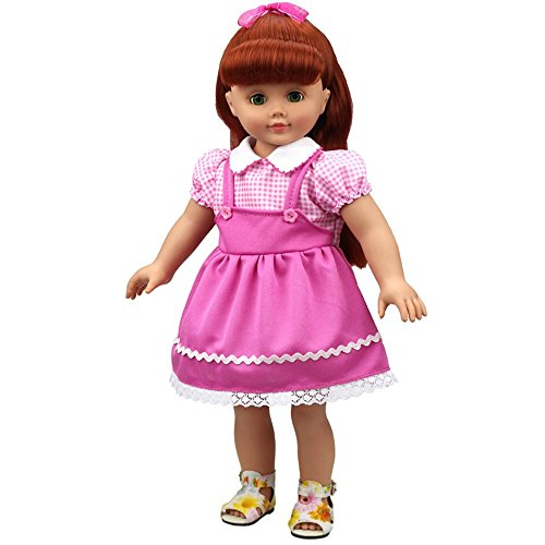 Banne Park Rids 18 Inches Simulatio Beauty Dress New Bitty Princess Baby Doll's Clothes (Princess Peach Baby Costume)