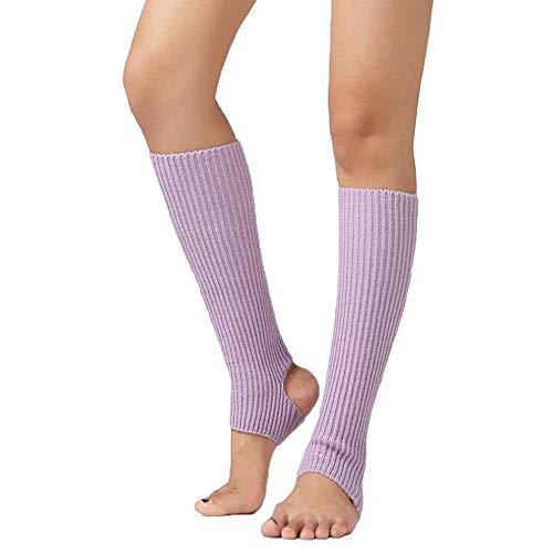 XuBa Calcetines Leggings de Niños Adultos Calentadores de Piernas de Lana Ballet Yoga Punto Stirrup Botas
