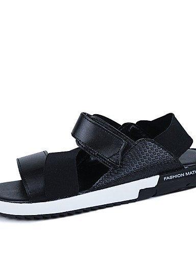 ShangYi Herren Sandaletten Herrenschuhe-Outddor / Lässig-Sandalen-Wildleder-Schwarz / Weiß / Orange / 1 # 4#