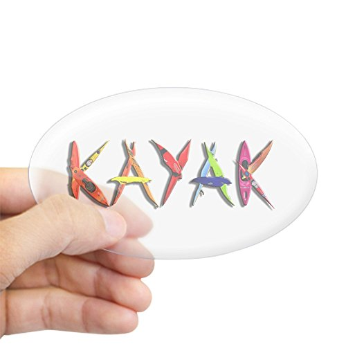 CafePress Kayak Graffiti Sticker Bumper
