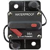 STETION 80 Amp Circuit Breaker Trolling with Manual Reset Car Marine Trolling Motors Boat ATV Manual Power Protect for…