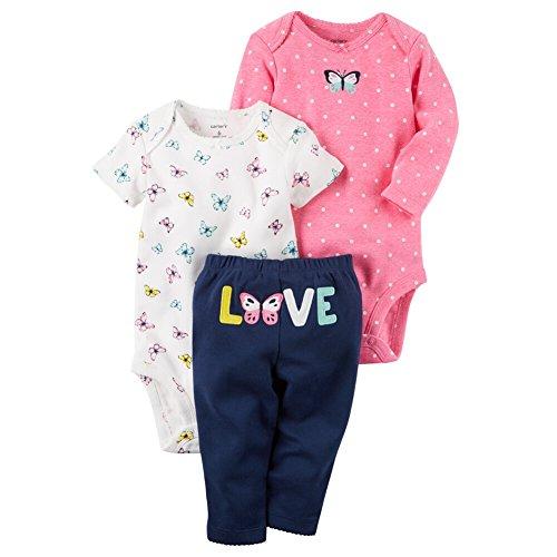 Carter's Baby Girls' 3 Piece Floral Love Set 18 Months (Butterfly Short Set)