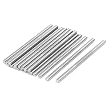 uxcell® M4 x 80mm 304 Stainless Steel Fully Threaded Rod Bar Studs Silver Tone 20 Pcs