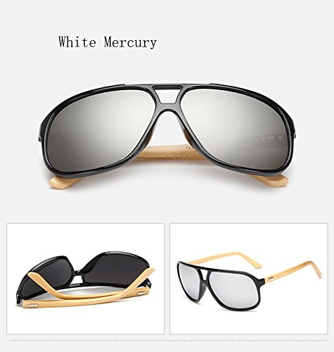 365Cor(TM)Vintage Mens Wood Sunglasses Brand Designer Bamboo Sun Glasses For Men Oversized Mirrored Sunglass Goggles Sport Shades - Sunglasses Lunettes