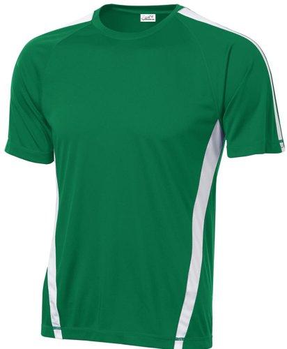 Joe's USA Men's Athletic All Sport Training T-Shirt ,Kelly Green/ White ,XX-Large