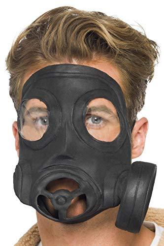 Smiffys Unisex Gas Mask, Black, One Size, 24211 ()