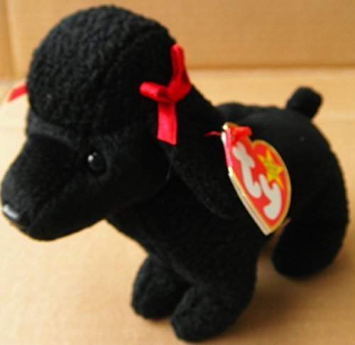 TY Beanie Babies GiGi the Poodle Dog Stuffed Animal Plush Toy - 7 inches long - Black ()