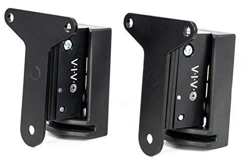 VIVO Black Dual Speaker Wall Mount Designed for SONOS Play 3 Brackets | Adjustable Mounting for 2 Play:3 Audio Speakers (MOUNT-PLAY3B)
