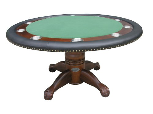 60'' Round Poker Table in Dark Walnut By Berner Billiards by Berner Billiards