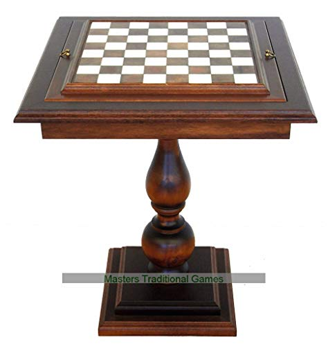Italfama Beech Wood Chess Table with Alabaster Top