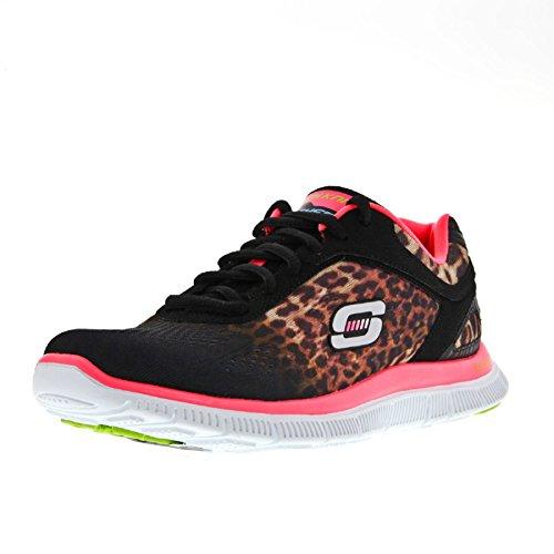 Skechers - Zapatillas deportivas modelo Seren para mujer Negro/rosa