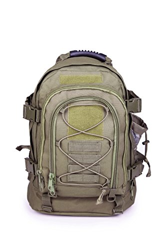 Military Expandable Tactical Rucksacks Backpacks with Hydration & Laptop Compartment Survival Kit Paintball Hiking Climbing Shooting Camping Outdoor Sports - Color OD Green