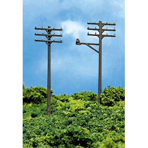 ATLAS MODEL 2801 Telephone Poles (12) ()