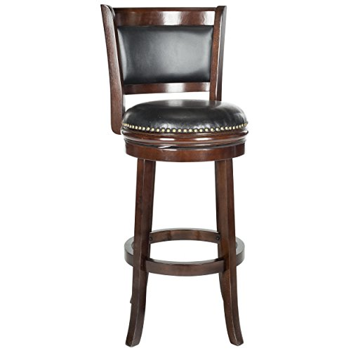 Clifton Ivory Leather Counter Stools W Brass Nailheads