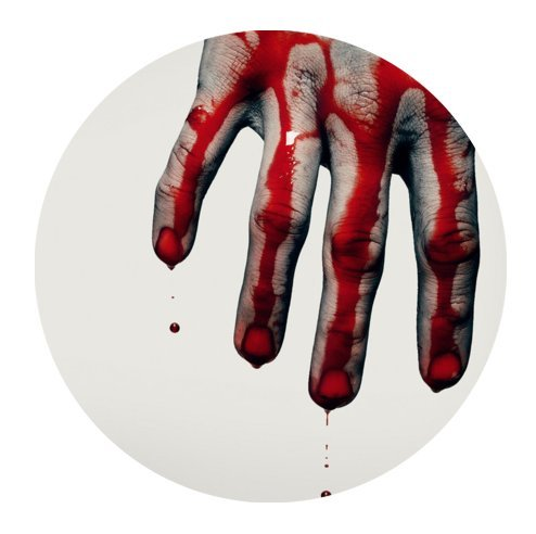 """Scary Bloody Hands,Help Me!!! Cloth Cover Round Mouse Pad 7.87""""x7.87"""""""